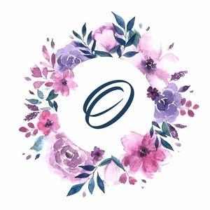 Elegant Alphabet O In Floral Frame