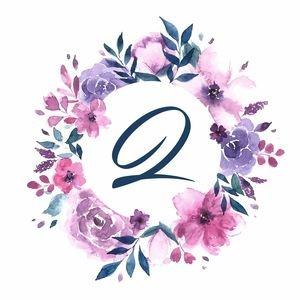 Elegant Alphabet Q In Floral Frame