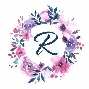 Elegant Alphabet R In Floral Frame