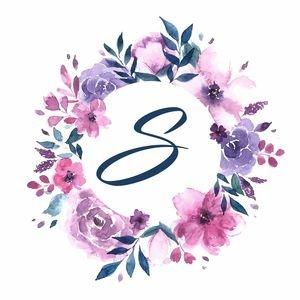 Elegant Alphabet S In Floral Frame