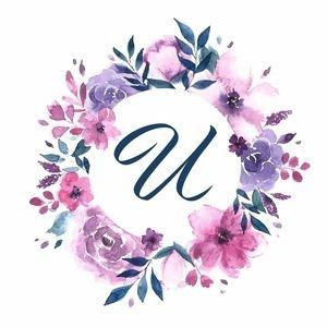 Elegant Alphabet U In Floral Frame