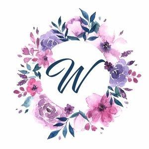 Elegant Alphabet W In Floral Frame
