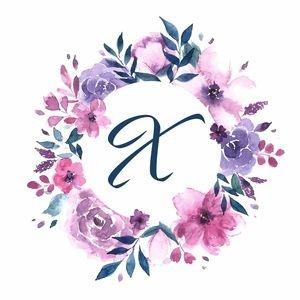 Elegant Alphabet X In Floral Frame