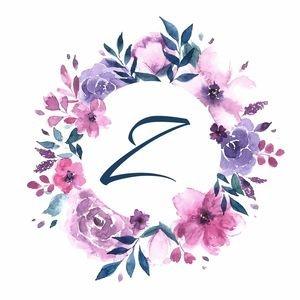 Elegant Alphabet Z In Floral Frame