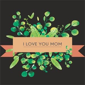 I Love You Mom In Black