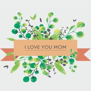 I Love You Mom In Grey