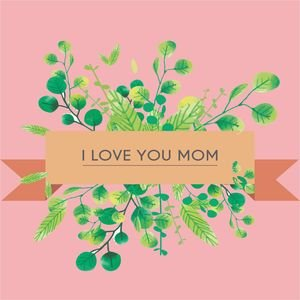 I Love You Mom In Pastel Pink