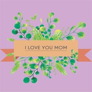 I Love You Mom In Pastel Purple