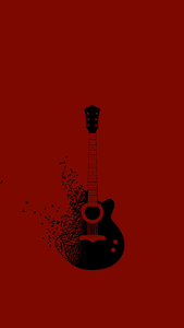 Guitar On Maroon
