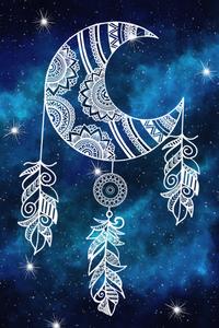 Dream Catcher Mandala On Blue