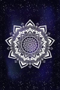 Galaxy Mandala Blue Digital