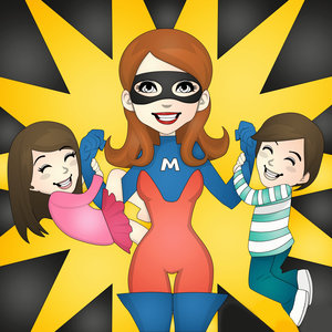 Supermom With Kids