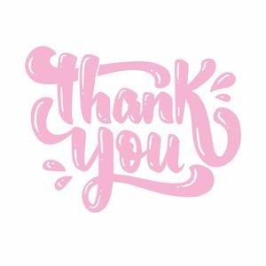 Pastel Pink Thank You Greeting
