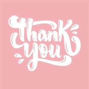 Thank You Greeting In Pastel Pink