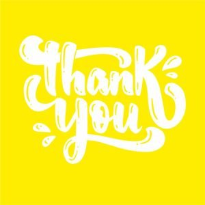 Thank You Greeting In Yellow