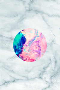 Marble With Color Chaos In Circle