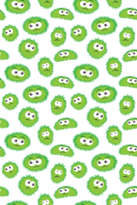Green Monsters Pattern
