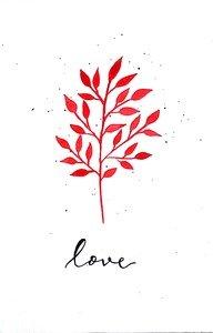 Love Tree On White
