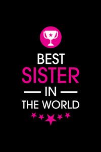 Rakhi Special Best Sister In The World On Black