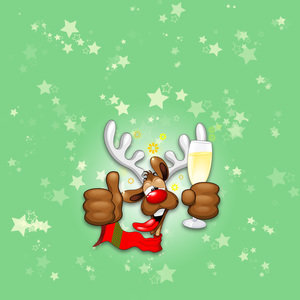 Reindeer Drunk Funny Christmas Character