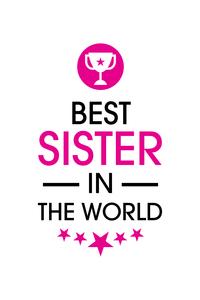 Rakhi Special Best Sister In The World On White
