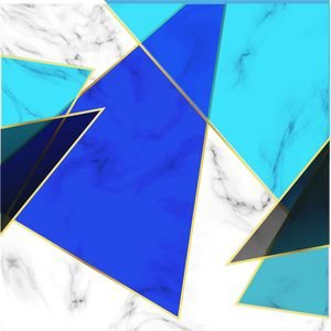 Blue Abstract Marble