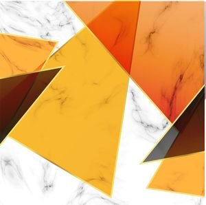 Orange Abstract Marble