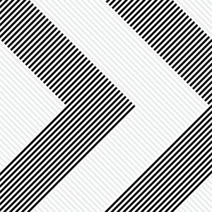 Geometric Pattern In Black And Grey