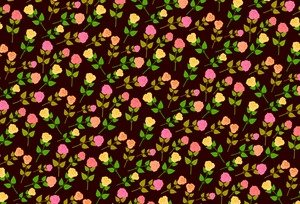 Rose Pattern On Black