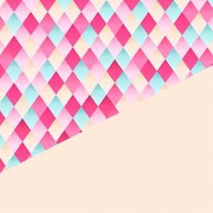 Abstract Geometric Design In Peach