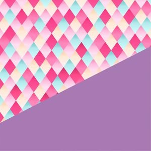 Abstract Geometric Design In Purple