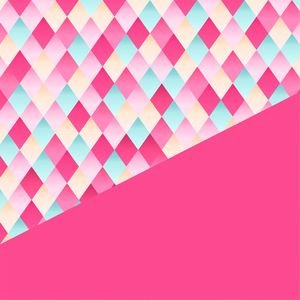 Abstract Geometric Design In Pink