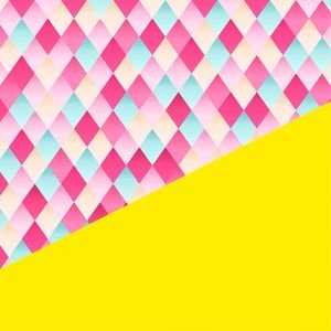 Abstract Geometric Design In Yellow