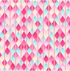 Abstract Diamond Geometric Pattern With Pastel Pink Lines