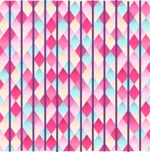 Abstract Diamond Geometric Pattern With Violet Lines