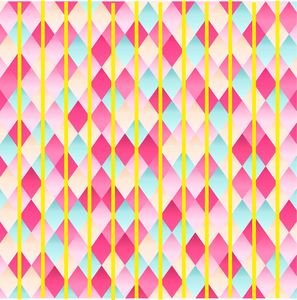 Abstract Diamond Geometric Pattern With Yellow Lines