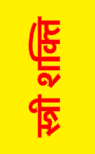 Stree Shakti On Yellow