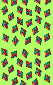 Diamond Pattern On Green
