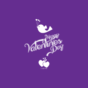 Happy Valentines Day On Purple