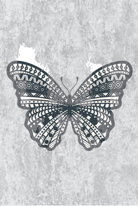 Butterfly On Gray Background