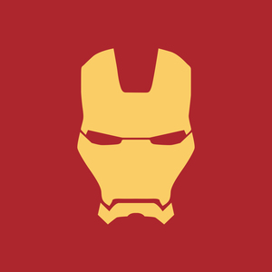 Iron Man Yellow Face On Red