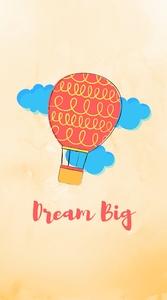 Dream Big Orange Parachute
