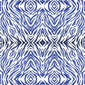 Blue Zebra Print Pattern