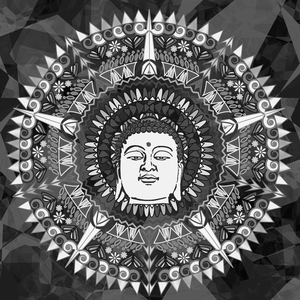 Buddha Mandala In Black And White