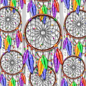 Dreamcatcher Rainbow Feathers