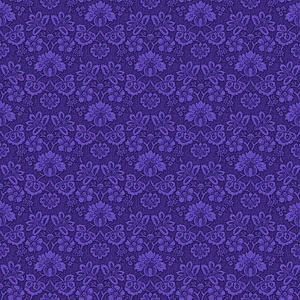 Blue Flower Wallpaper Style