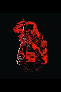 Star Wars Funny Illustration On Black