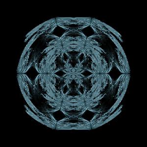 Mandala Blue And White