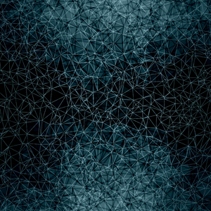 Blue Polygons On Black