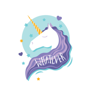 Whatever Cute Unicorn